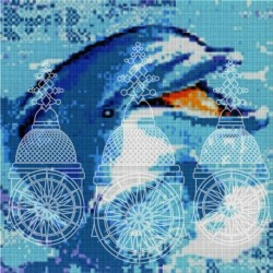 DOLPHIN IN THE WATER EM MOSAICO